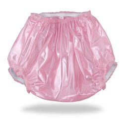 Vinyl Plastic Pants Pink